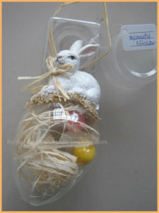 Factory Direct Supply Eastern Glass Egg with Rabbit pictures & photos