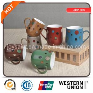 Promotion New Bone China Coffee Mug Color Glazed pictures & photos