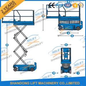 Hydraulic Electric 6m Self Propelled Scissor Lift pictures & photos
