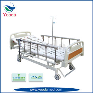 Foldable Aluminum Alloy Hospital Bed with Hand Controller pictures & photos