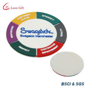 Custom Logo Soft PVC Cup Mat (LM1777) pictures & photos