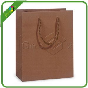 Delicate Brown Paper Bags with Handles pictures & photos
