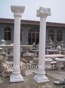 Marble / Granite Columns, Stone Column and Pillar In Travertine pictures & photos