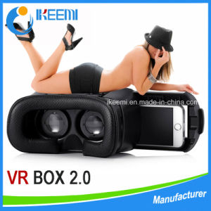 Head Mount Plastic Version Vr Virtual Reality 3D Glasses Magnet Google Cardboard for 3.5-6 Inch + Bluetooth Controller pictures & photos