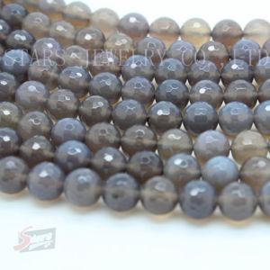 Semi Precious Stone -Gray Agate Loose Beads