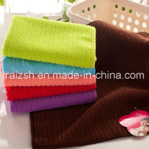 Microfiber Warp Knitted Color Bar Towel Infant Bibs Handkerchief Gifts pictures & photos