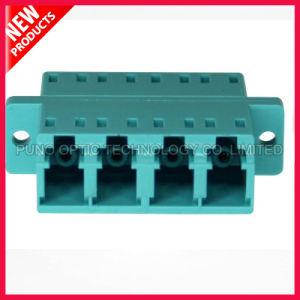10G OM3 LC Aqua Quad Optical Adapter pictures & photos