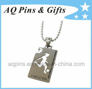 Nickel Soccer Medal with Balll Chain pictures & photos