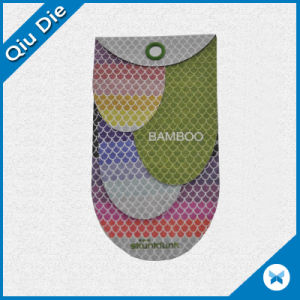 Customized Shape Fancy Design Hangtag with Shape Button Gift pictures & photos