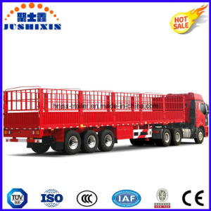 China Made High Strength Steel Stake Semi-Trailer with Side Wall pictures & photos