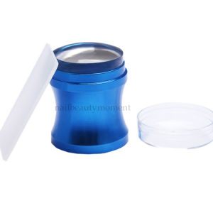 Metal Blue Silicone Jelly Stamper Scraper Art Nail Beauty (SNA23)