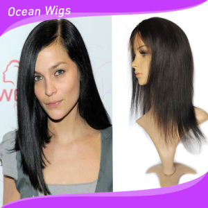 100% Remy Human Hair Indian Hair Front Lace Wig pictures & photos
