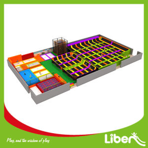 Customized Indoor Gymnastic Trampoline with Dodgeball in Trampoline Park pictures & photos