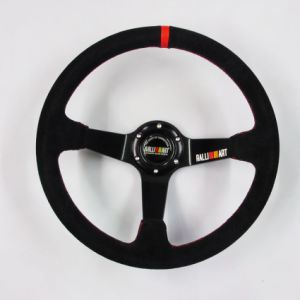 Ralliart 14 Inch 350mm Deep Dish Suede Steering Wheel