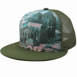 Custom Fashion Design 5 Panel Flat Brim Trucker Cap pictures & photos
