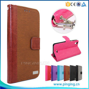 Book Style Flip Leather Case for Alcatel One Touch Idol 3c with Stand pictures & photos