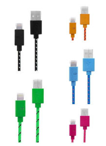 Durable Nylon Fabric USB Charger Cable for iPhone 5s pictures & photos