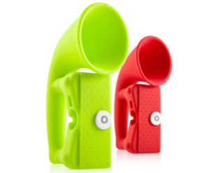 Portable Mini Horn Silicone Loud Speak for iPhone 4S (Fly-2012113002) pictures & photos