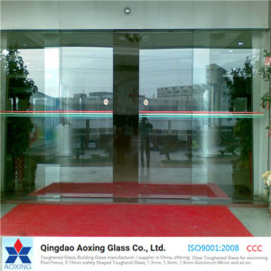 Silk-Printed/Clear Toughened/Tempered Glass for Door/Building pictures & photos