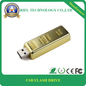OEM Cutmized Logo Golden Metal USB Flash Drive