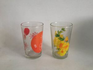 Hot Selling New Design 6PC Pack Set 8 Oz Printed Glass Cup pictures & photos