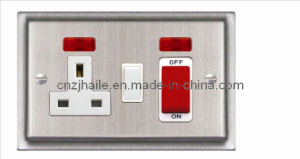 British Standard Switch+Neon+Switched Socket Cooker Unit pictures & photos