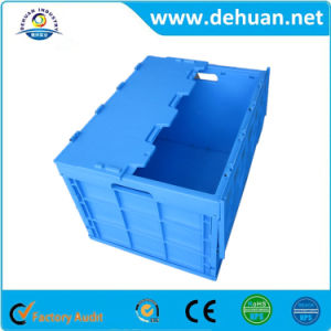 Attached Lid Box Moving Turnover Solid Plastic Favor Case, Plastic Products Manufacturer pictures & photos