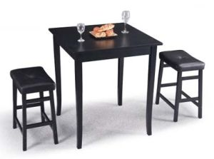 American Style Dining Set Made by One Table with Two Stools (M-X1112) pictures & photos
