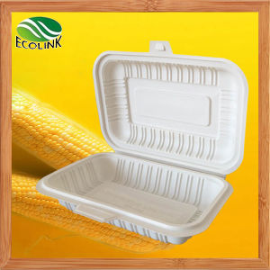 Custom 450ml Disposable Biodegradable Food Container with Cornstarch (EB-B-4482) pictures & photos