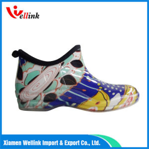 Ladies′s Fashion Style Colourful Rubber Rainboots pictures & photos