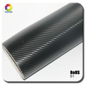 Tsautop 3D Carbon Fiber Vinyl for Car Wrapping& Black B1b pictures & photos