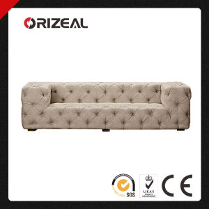 Soho Plush Padding and Allover Button Tufted Upholstered Sofa (OZ-FS-2034) pictures & photos
