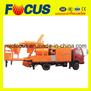 Truck Mounted Concrete Mixer with Pump pictures & photos