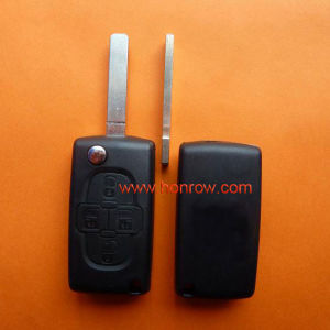 Citroen 4 Button Remote Key Blank with 307 Blade (VA2 Blade -4 Button- No battery place)