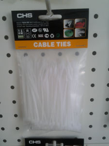 White Nylon Cable Tie 100 Pieces Per Bag with Head Card pictures & photos
