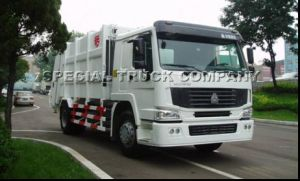 12m3 HOWO Sinotruk Rear-Loading Compressed Garbage Truck (QDZ5163ZYSZH) pictures & photos