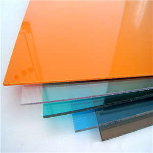 Orange Polycarbonate Sheet Grade a Stock Lot pictures & photos