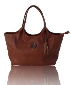 Customized Logo Fashion PU Leather Tote Bag Handbag pictures & photos