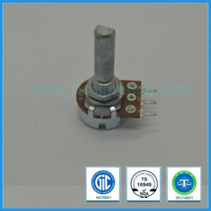 Low Cost Potentiometer 16mm B10k D-Shaft Rotary Potemtiometer pictures & photos