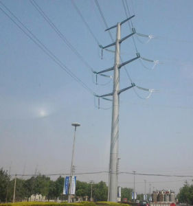 Power 220kv Single Pole Tower pictures & photos