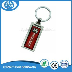 Wholesale Customized Blank Metal Car Keychain with Metal Printing Sticker pictures & photos