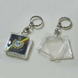 OEM Design Fashion Plastic Photo Keychains pictures & photos