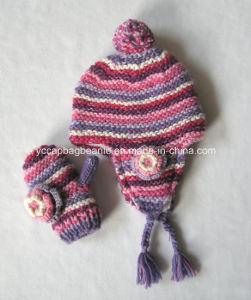 Children Ear Flap Hat Glove Set pictures & photos