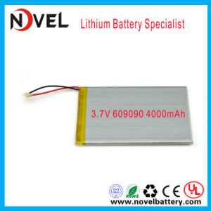 Un38.3 MSDS 3.7V 4000mAh 606090 Polymer Lithium Li-ion Battery for Power Bank