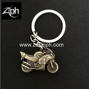3D Antique Brass Motorbike Keychain pictures & photos