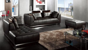 Big Leather Sofa (6215) pictures & photos