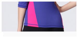 Woman Fitness Two-Tone 92% Nylon 8% Spandex Sportwear Yoga Shirt pictures & photos