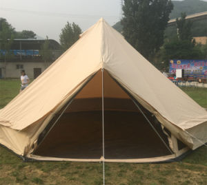 Dia 3m 4m 5m 6m 100% Cotton Waterproof Mesh Camping Hotel Bell Tent Canvas Bell Tent pictures & photos