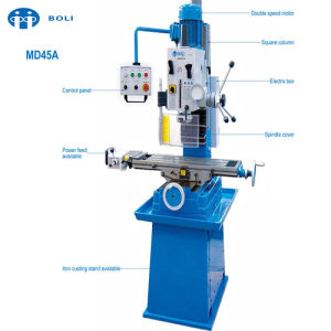 MD45A Vertical Manual Drilling and Milling Machine for Desktop pictures & photos