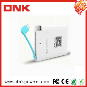 Professional Gift Wallet USB Slim Portable Mobile Power Bank 2500mAh